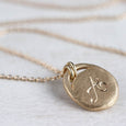 Hand-engraved Monogram Pendant, Necklace - Aide-mémoire Jewelry