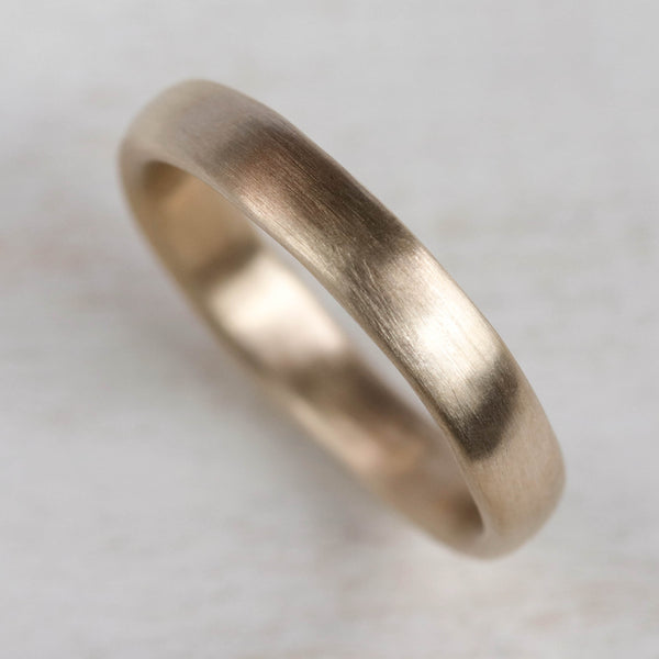 Narrow Chunky Sculpted Band, Men's Wedding Bands - Aide-mémoire Jewelry