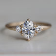 Prong-set Oval Three Stone Ring