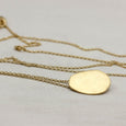 Disc Pendant, Necklace - Aide-mémoire Jewelry