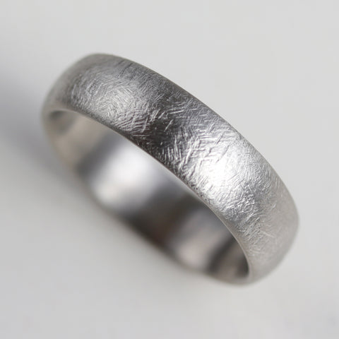 Wide Rustic Texture Hand-carved Classic Band