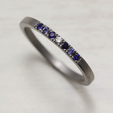 Blue Sapphire Stacking Ring