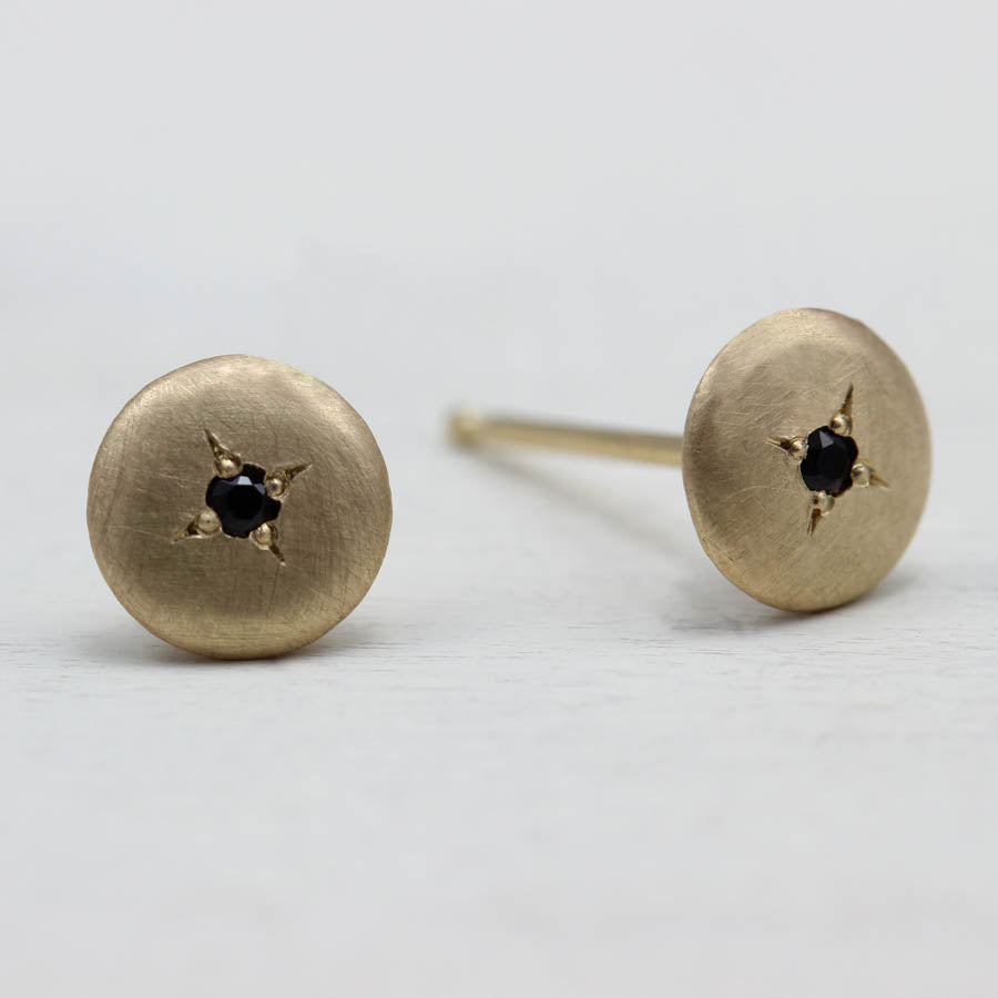 Small Smooth Bead Set Stud Earrings, Women's Gold Jewelry, Recycled Metal, Ethical & Eco-friendly Jewelry - Aide-mémoire Jewelry