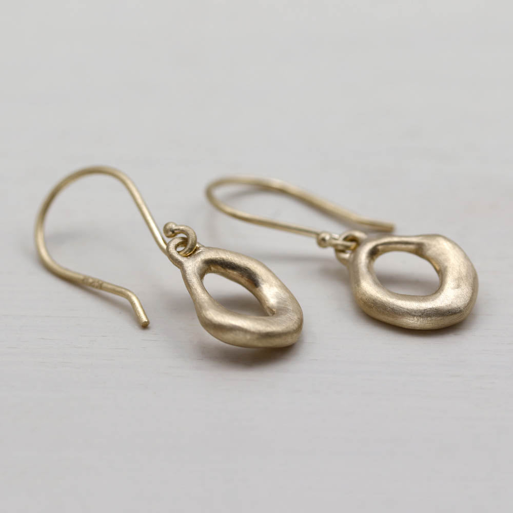 Small Torus Dangle Earrings, Earrings, Demi-fine Jewelry - Aide-mémoire Jewelry