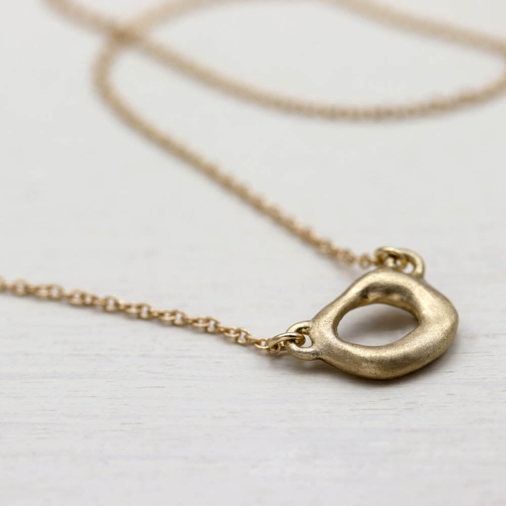 Small Torus Pendant Necklace, Necklace, Demi-fine Jewelry - Aide-mémoire Jewelry