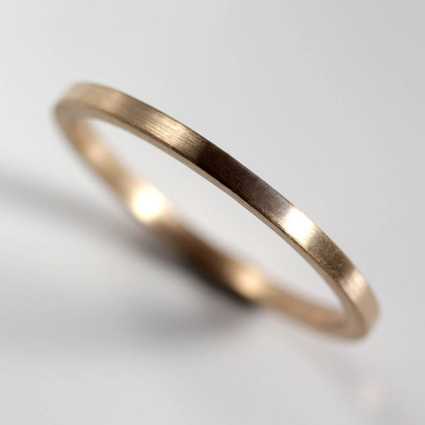 Size 7 - 1.5mm Square Smooth Band