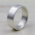 Flat 2mm Thick Silver Engagement Band