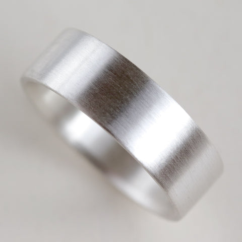 Flat 1.5mm Thick Silver Engagement Band