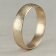 Wide Stone Texture Hand-carved Classic Band
