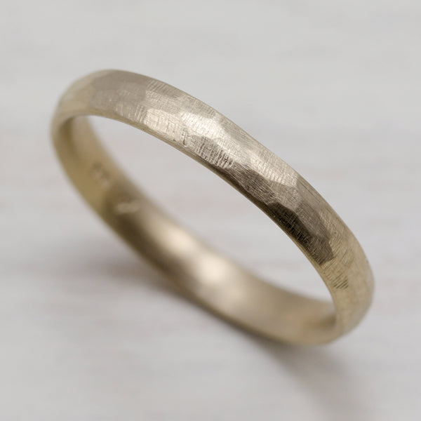 Narrow Stone Texture Hand-Carved Classic Band
