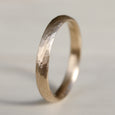 Narrow Stone Texture Hand-carved Classic Band •