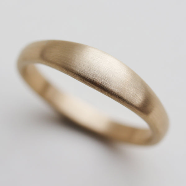 Tapered Wedding Band •