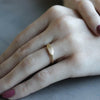 Women's Ancient Texture Oval Signet Ring, Women's Wedding Band - Aide-mémoire Jewelry