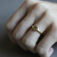 Diamond Scatter Ancient Engagement Ring, Engagement Ring - Aide-mémoire Jewelry