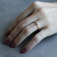 Edgeless Solitaire, Engagement Ring - Aide-mémoire Jewelry