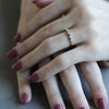 Five Stone Ring, Women's Wedding Band - Aide-mémoire Jewelry