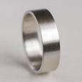Wide Light Weight Flat Wedding Band