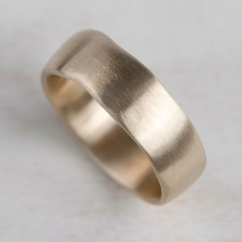 Wide Sculpted Band