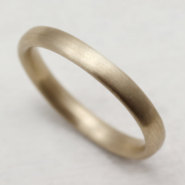 Narrow Hand-carved Arched Band •