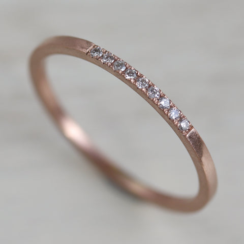 Nine Stone Diamond Stacking Ring