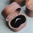 Handmade & Sustainable Oval Walnut Ring Boxes, ring box - Aide-mémoire Jewelry