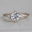 6mm Prong-set Three Stone Ring •