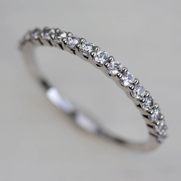 Scalloped Half Eternity-Style Band