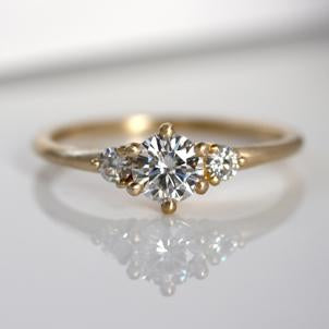 Prong Set Three Stone Engagement Ring