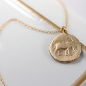 Elephant Ancient Coin Pendant