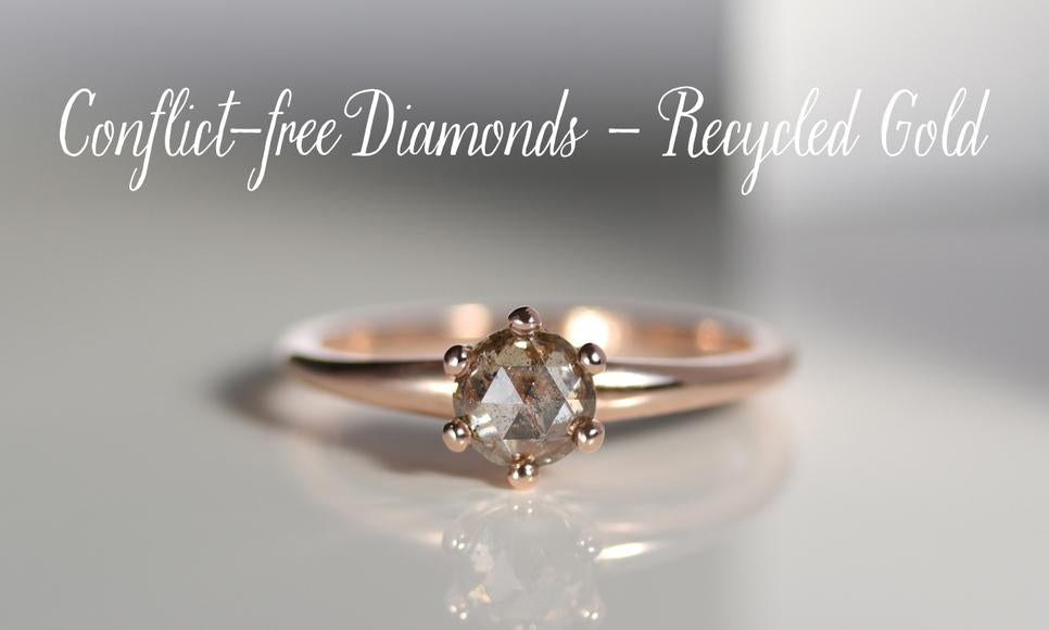 Women's Conflict-free Handmade Engagement Rings