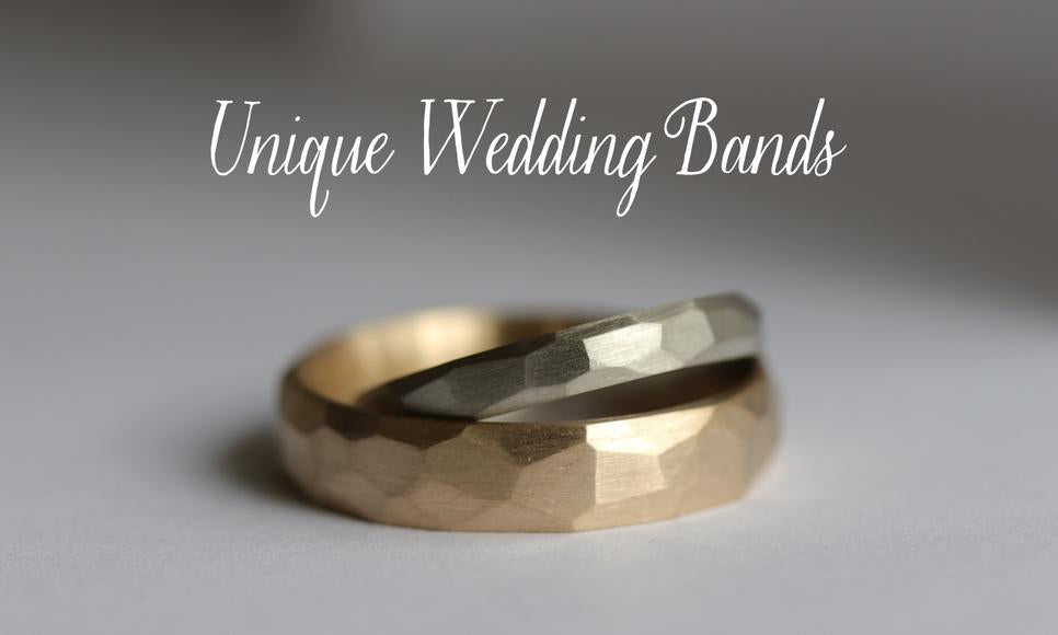 Rustic Texture Men's Wedding Bands