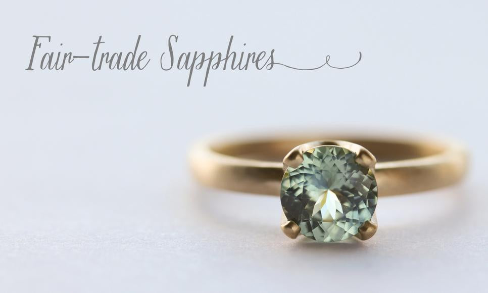 Fair-trade Sapphire Engagement Rings