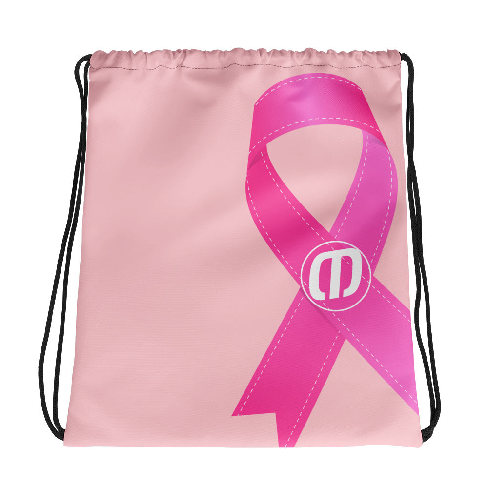 Breast Cancer Awareness Drawstring bag