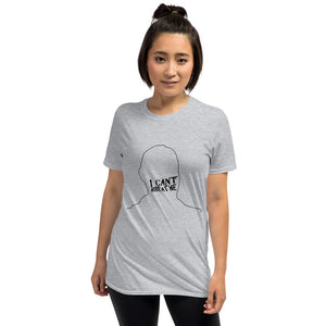 I Can't Breathe Black Print Short-Sleeve Unisex T-Shirt