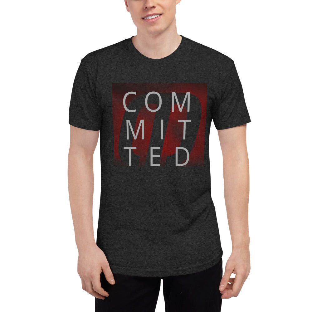 Committed Unisex Tri-Blend Track Shirt