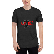 Load image into Gallery viewer, Maloned Unisex Tri-Blend Track Shirt