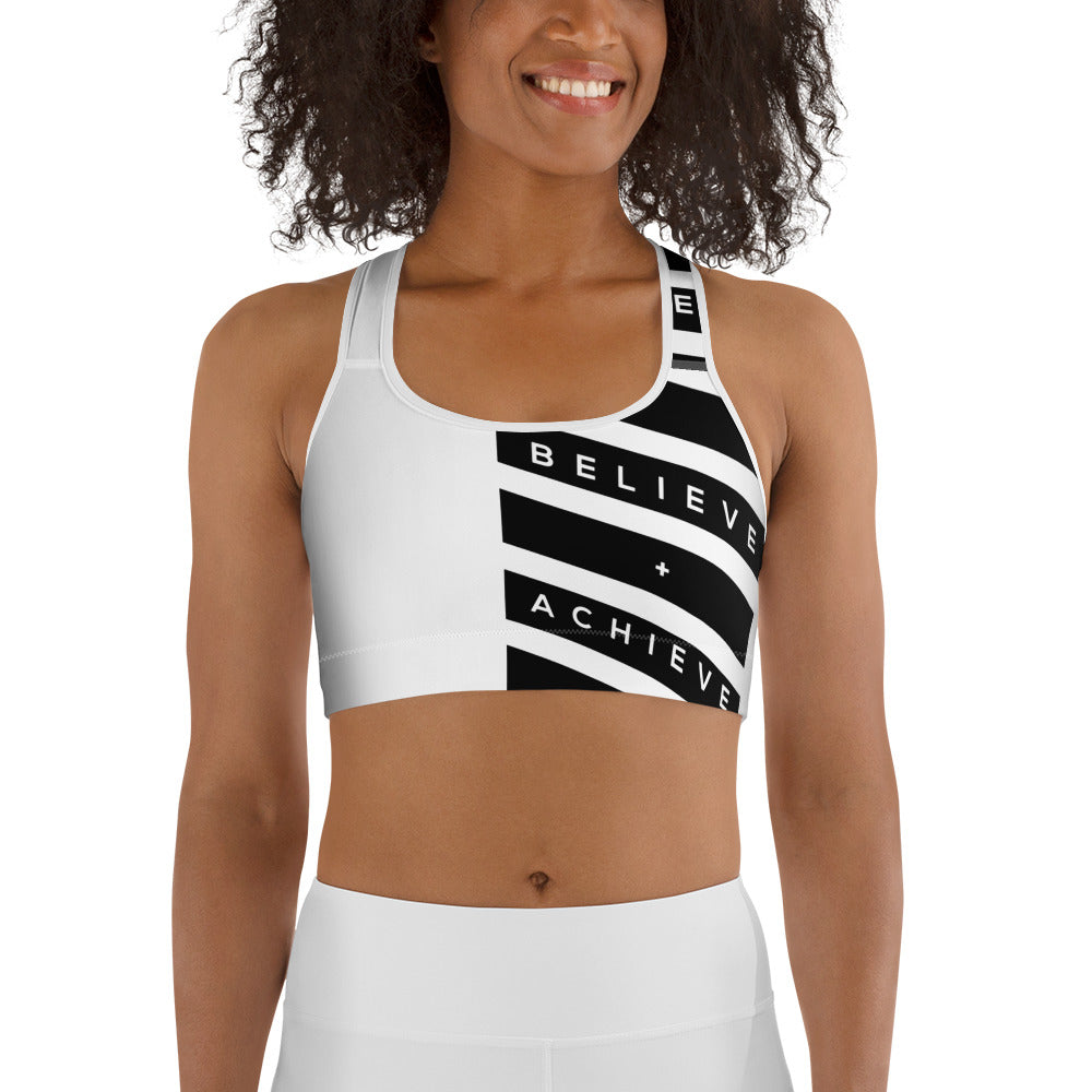 Believe Achieve  Sports bra