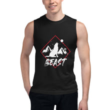 Load image into Gallery viewer, Beast Line Wolf Muscle Shirt