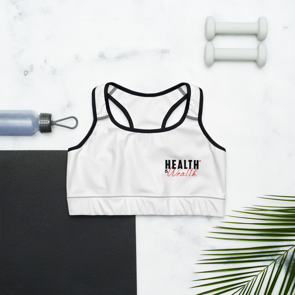 Health Is Wealth Sports bra