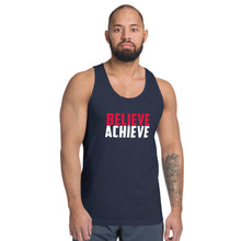 Load image into Gallery viewer, Believe + Achieve Unisex Jersey Tank Top