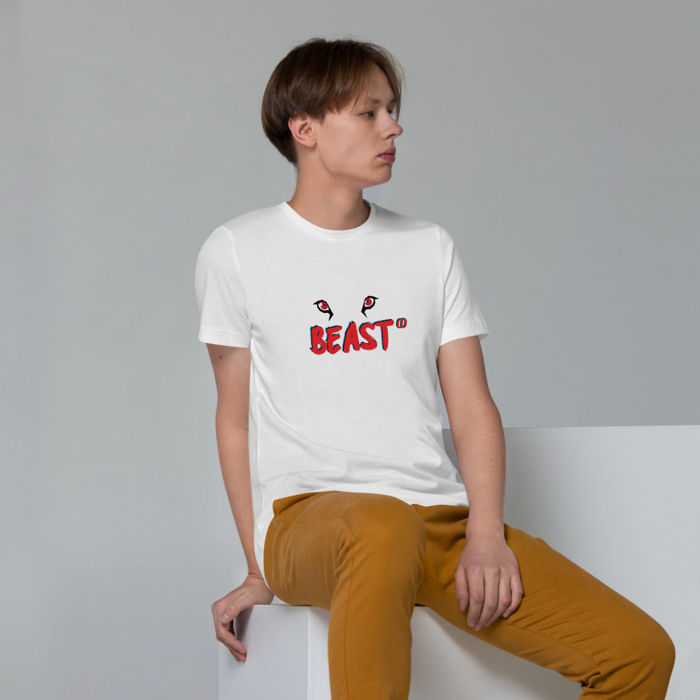 Beast Line Eye Unisex Organic Cotton T-Shirt