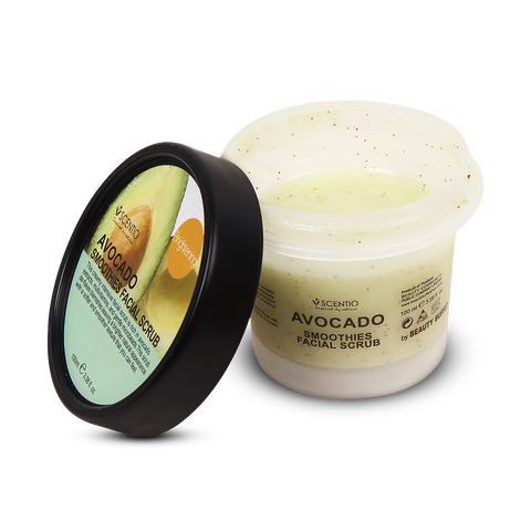 Scentio Avocado Brightening Smoothies Facial Scrub, 100 ml