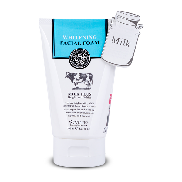 Scentio Milk Plus Whitening Q10 Facial Foam, 100 ml