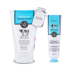 Scentio Milk Plus Whitening Q10 Facial Foam + Hand Cream, 130 ml