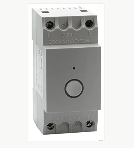 Wi-Fi Enabled Din-Rail Time Switch, 230 V, White