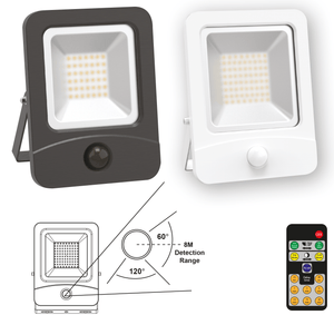 Remote Control PIR LED 50W Floodlight IP65