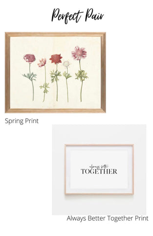 Pair prints together for a perfect gallery wall