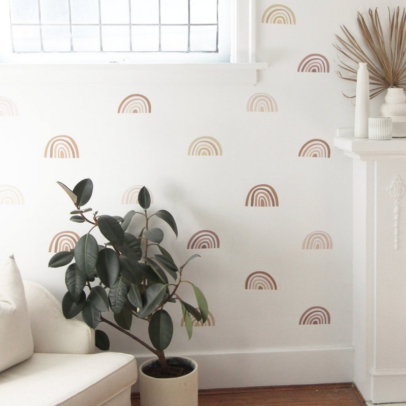 Pastel Mini Ombre Rainbows - Urban Walls Decals