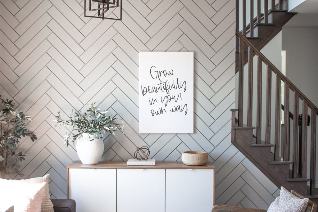 Grow Beautifully In Your Own Way Print