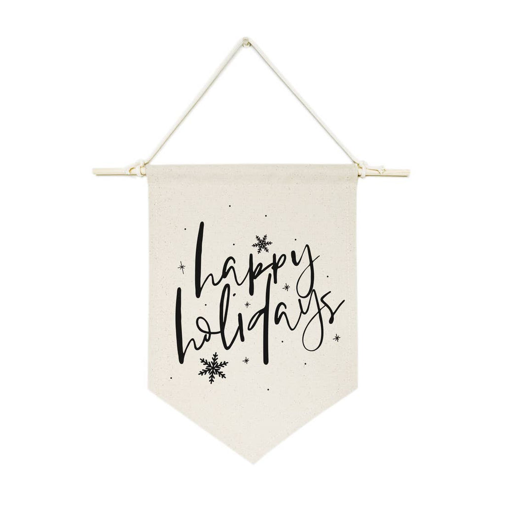 Happy Holidays Canvas Wall Hanging